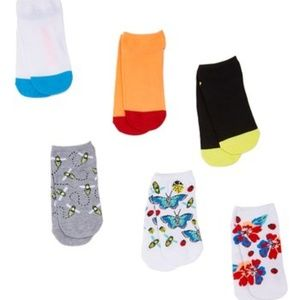 Betsey Johnson  Butterfly Socklet 5-pack